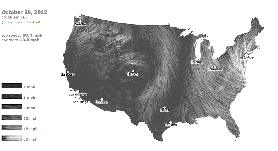 The Best Maps And Visualizations Of Frankenstorm Sandy - Us wind patterns map