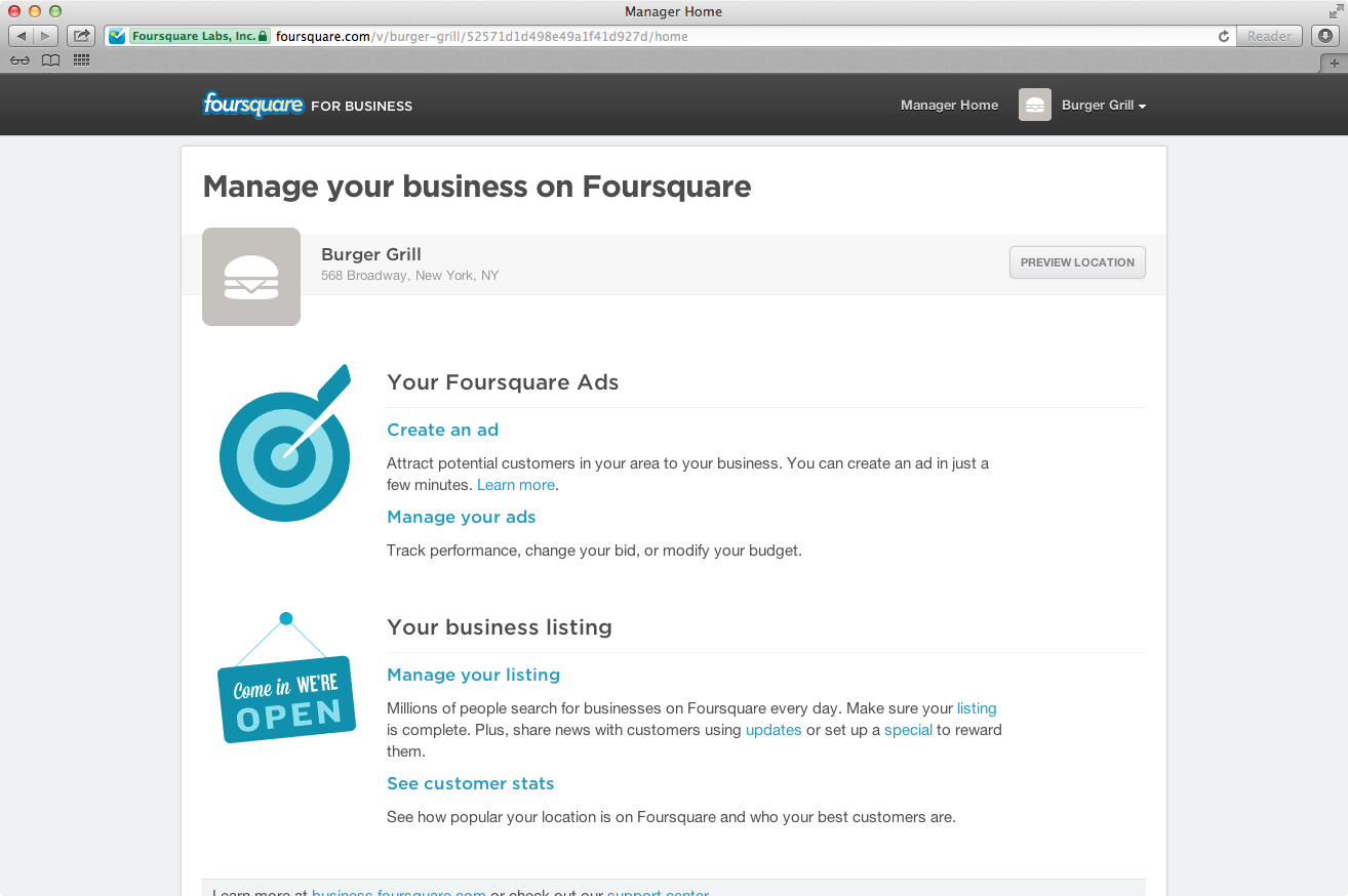 Foursquare Opens Ad Platform To 1.5 Million Merchants