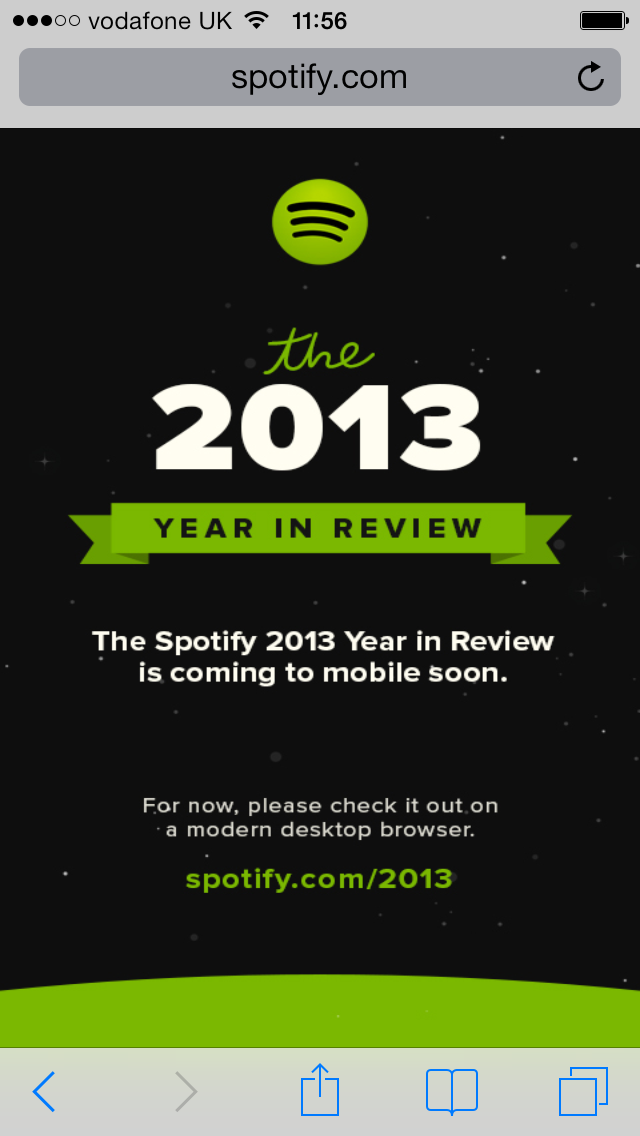 """Spotify Produces Quirky, Territorial, Slightly Wonky """"Year In Review 2013"""" Website"""