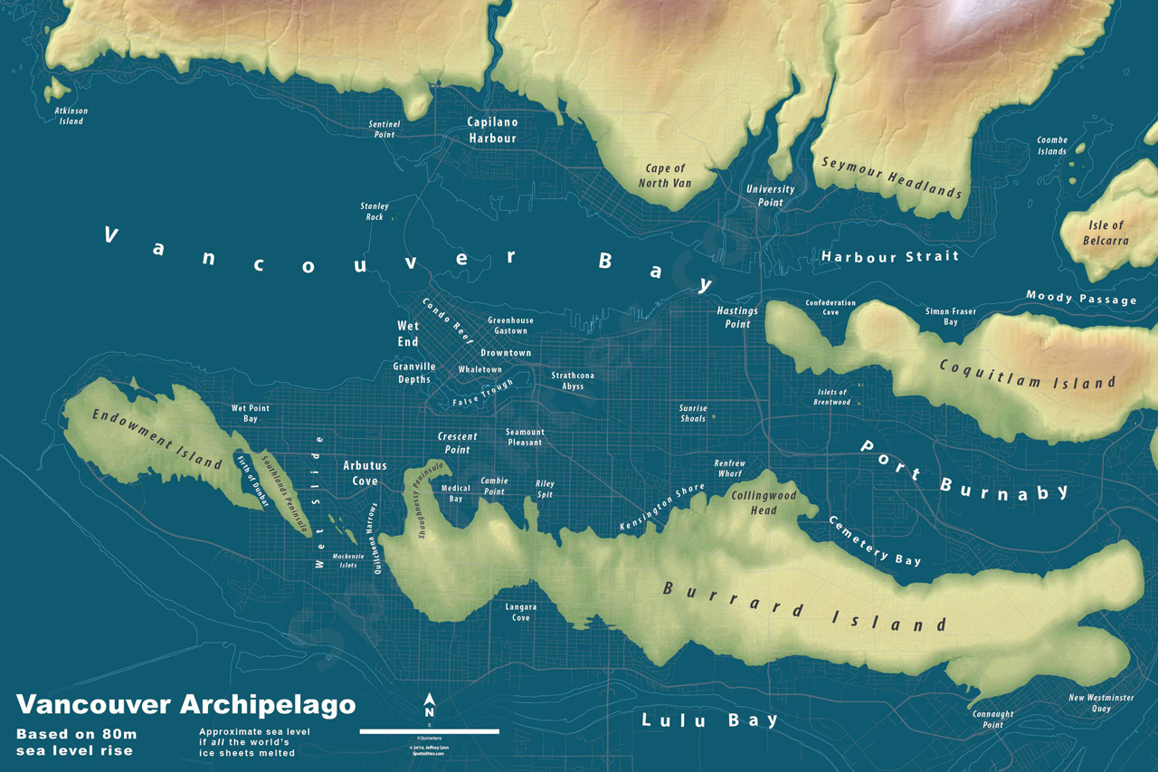 This Is What Your City Would Look Like If All The Worlds Ice Sheets M - Map of us if polar caps melt