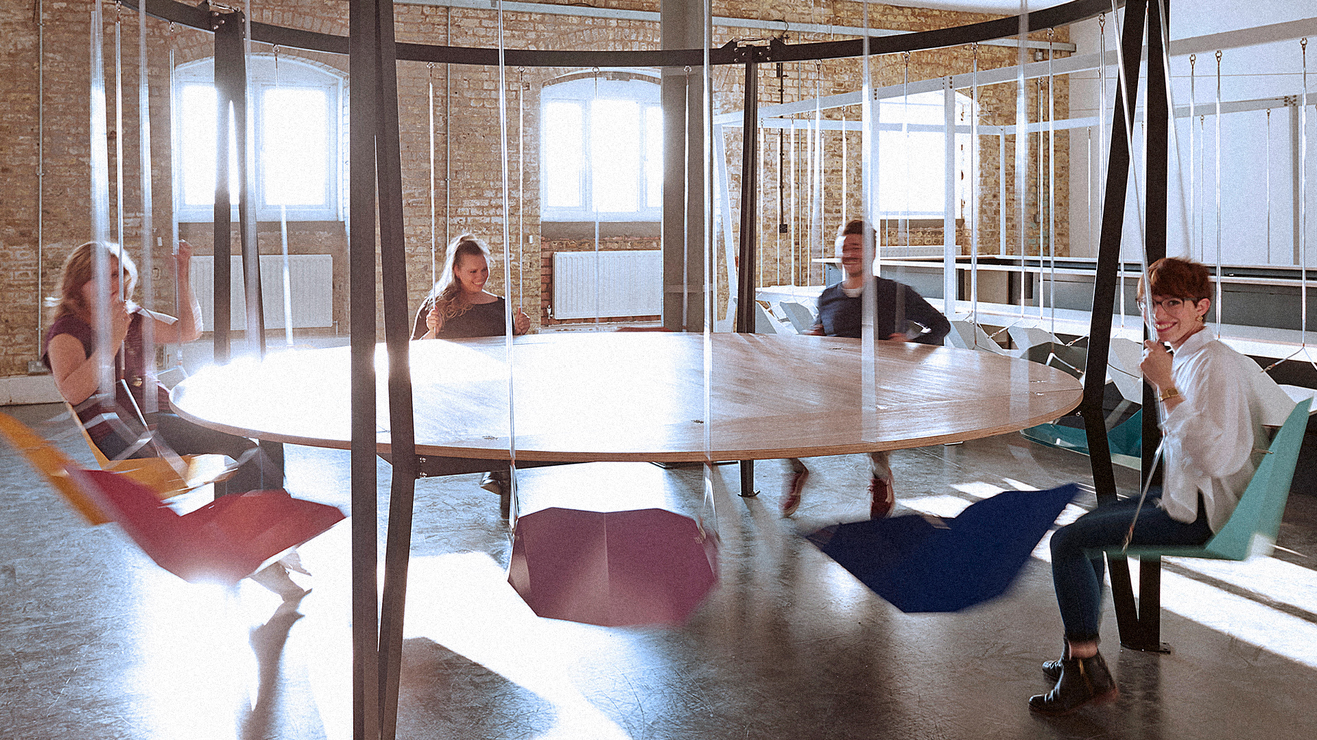 Would Sitting In A Fun Swing Make Your Stupid Meetings Less Boring?