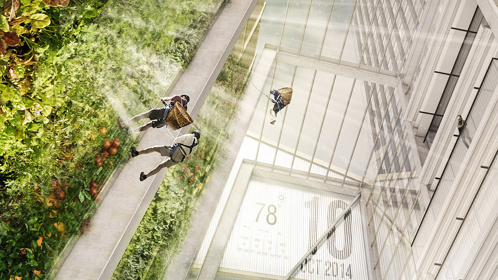 In The Office Of The Future, You'll Scale A Climbing Wall To Harvest Your Lunch