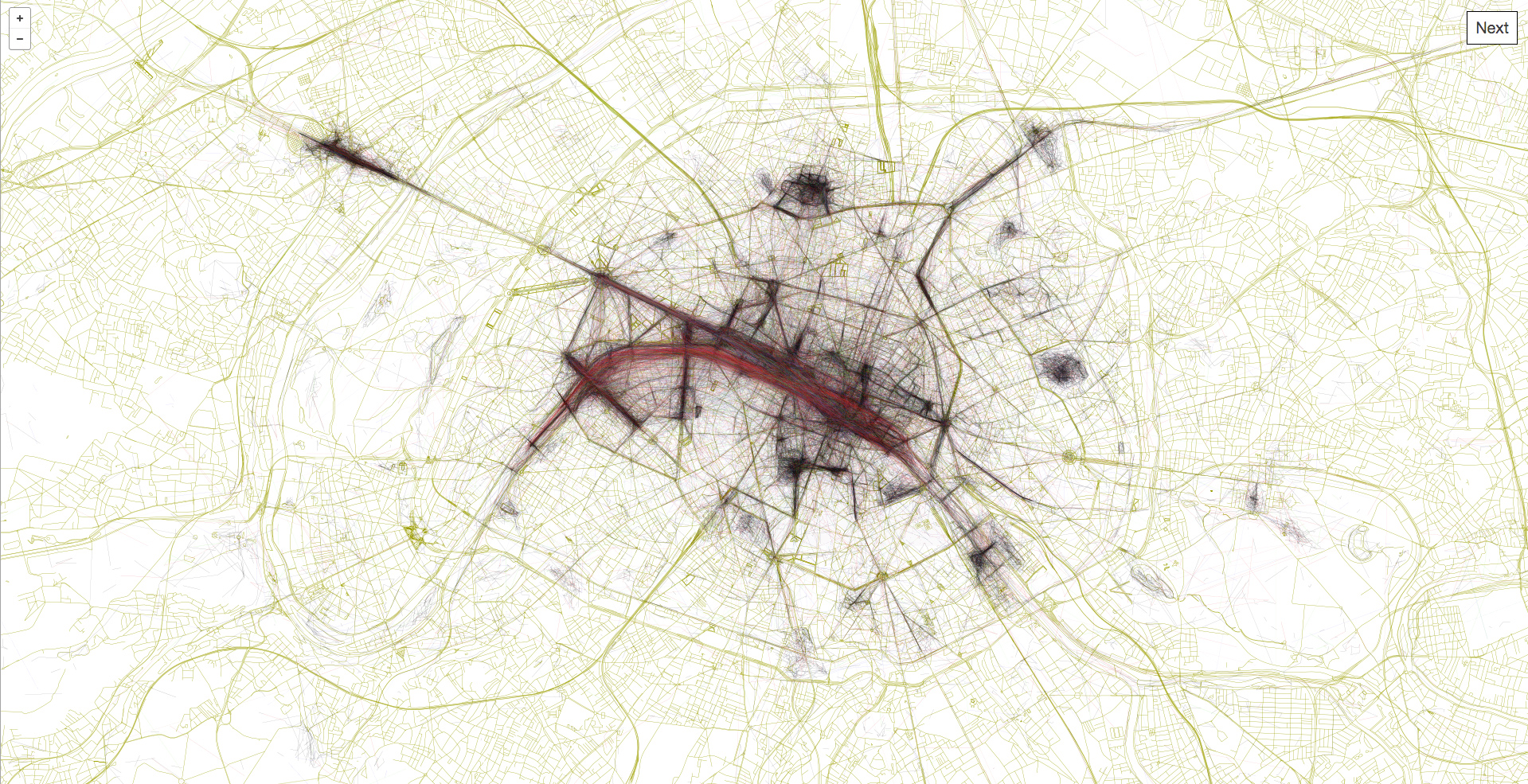 These Pretty City Maps Were Drawn By Our Paths Through Them
