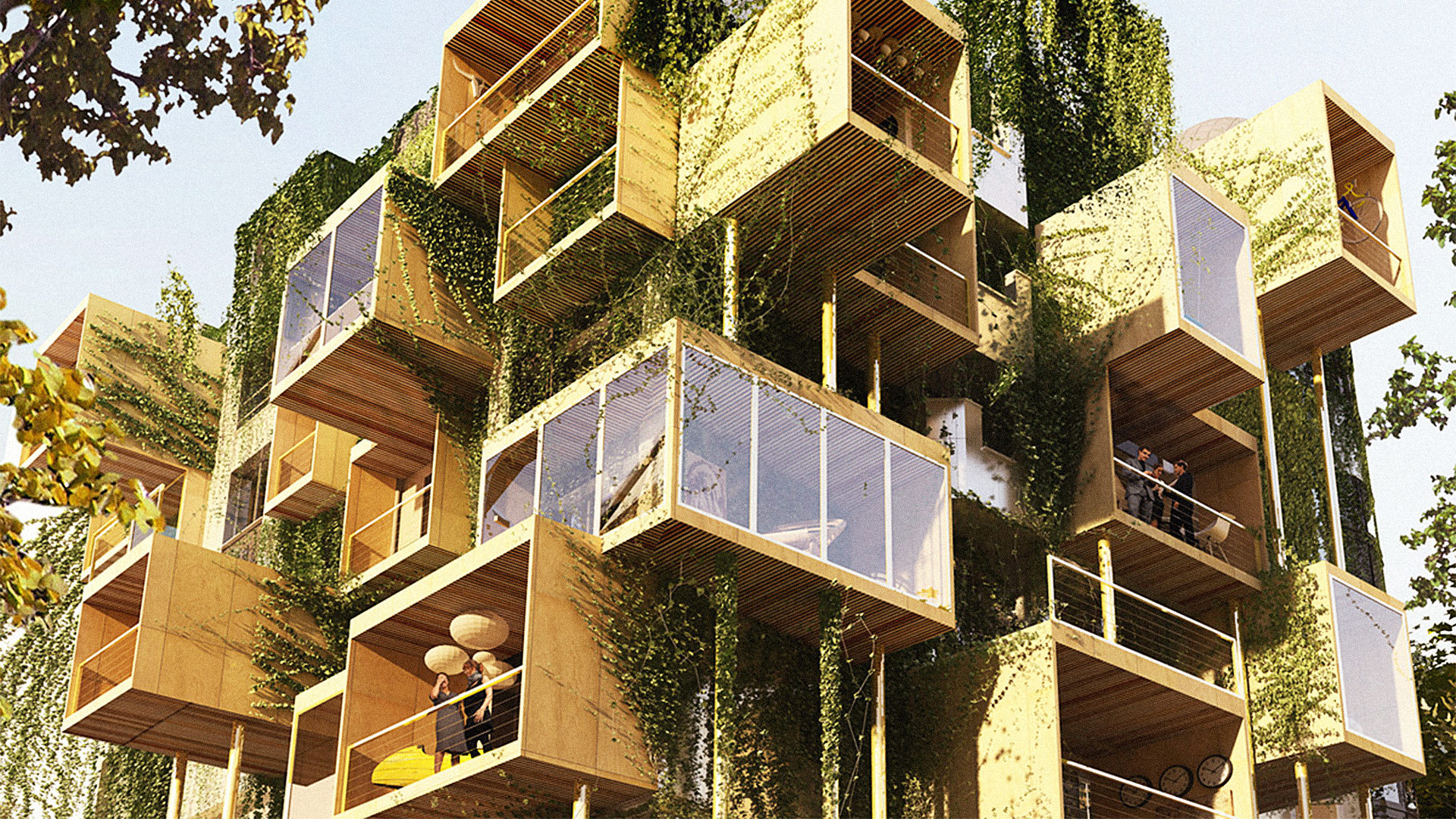 """Covering These Apartments In """"Parasitic"""" Additions Saves Energy And Makes Extra Space"""
