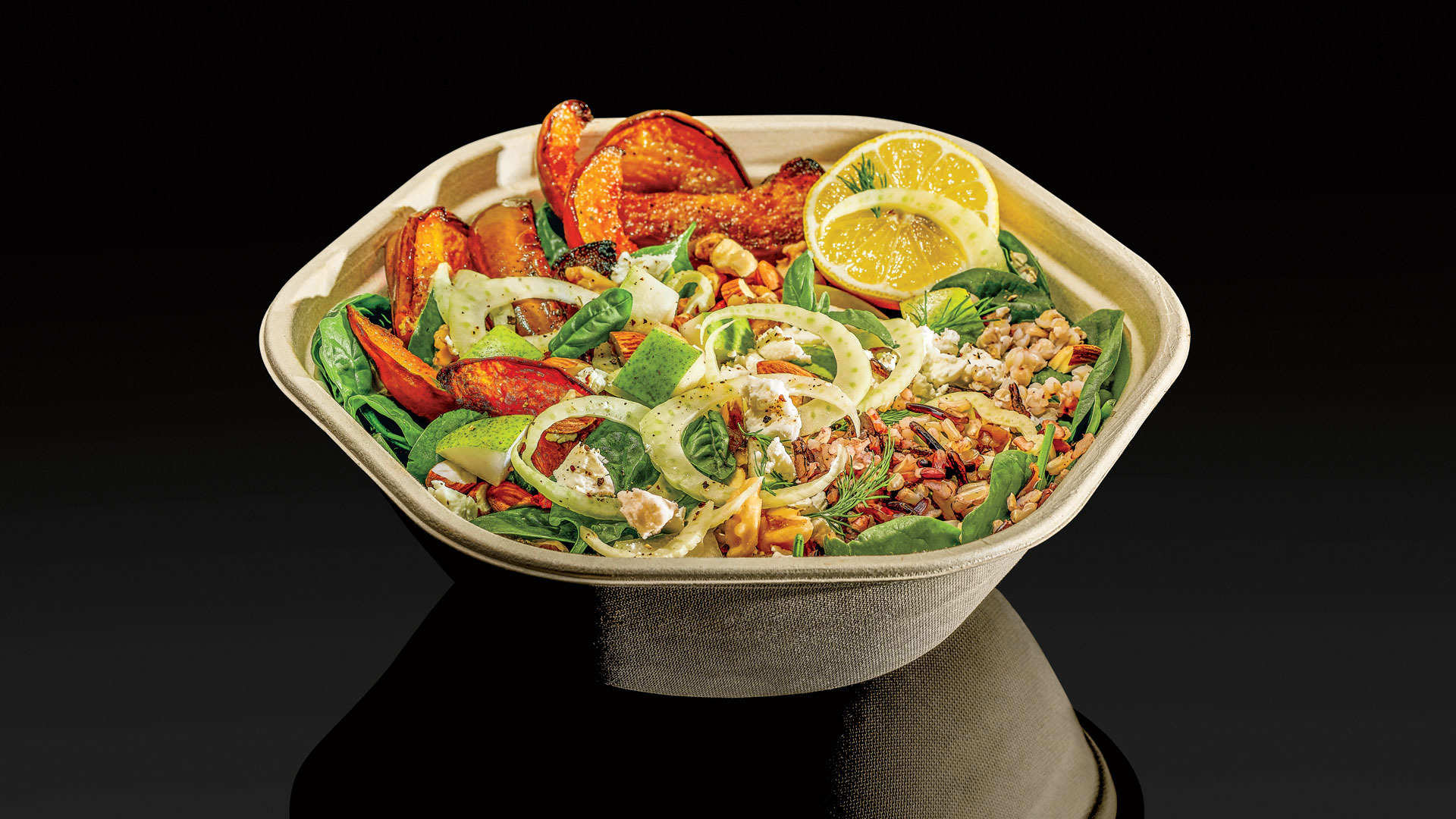 The Koginut Squash bowl from Sweetgreen. [Photo: Jamie Chung; Food stylist: Ali Nardi at Apostrophe]