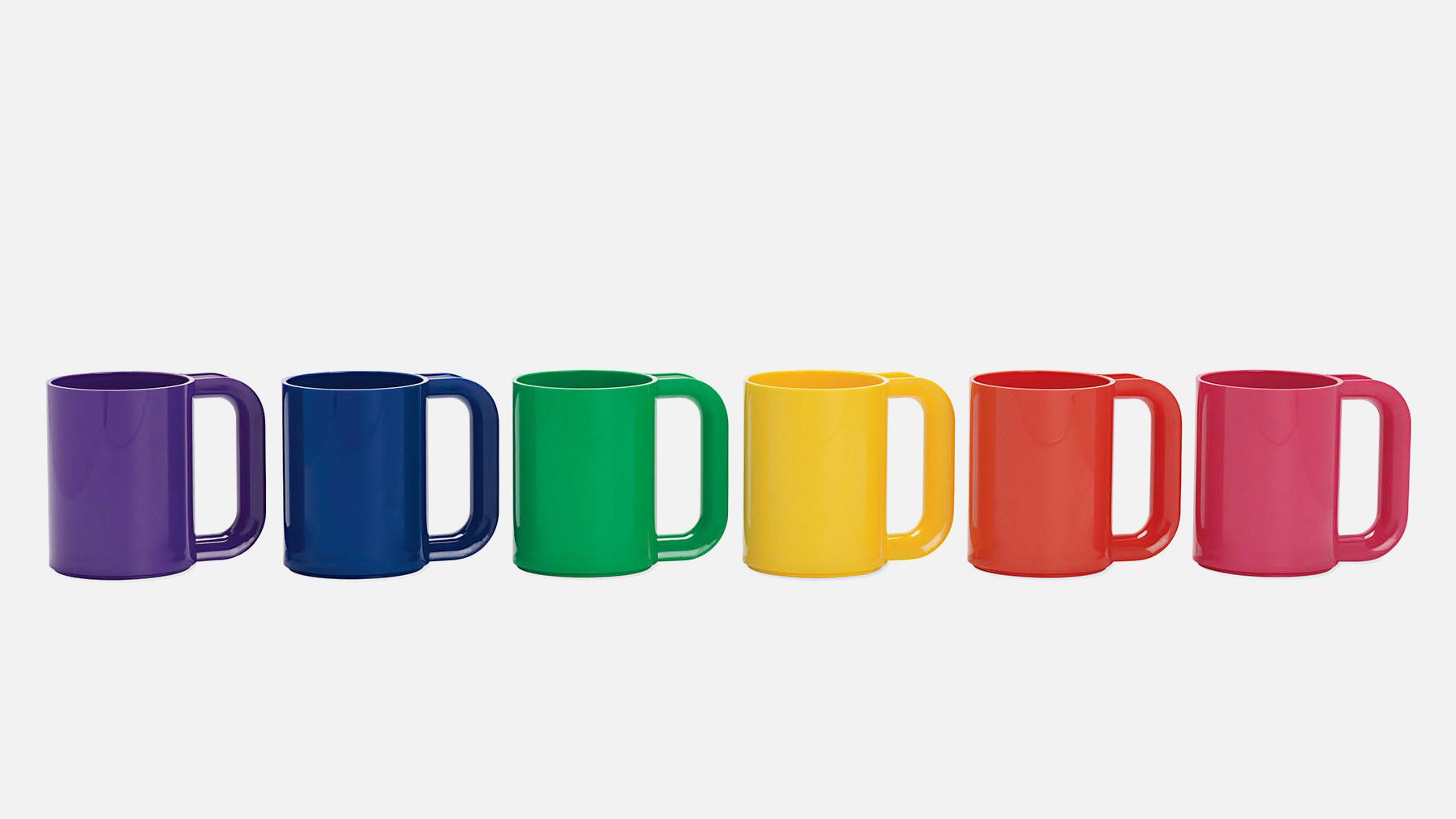 Massimo Vignelli Heller Rainbow Mugs, set of six