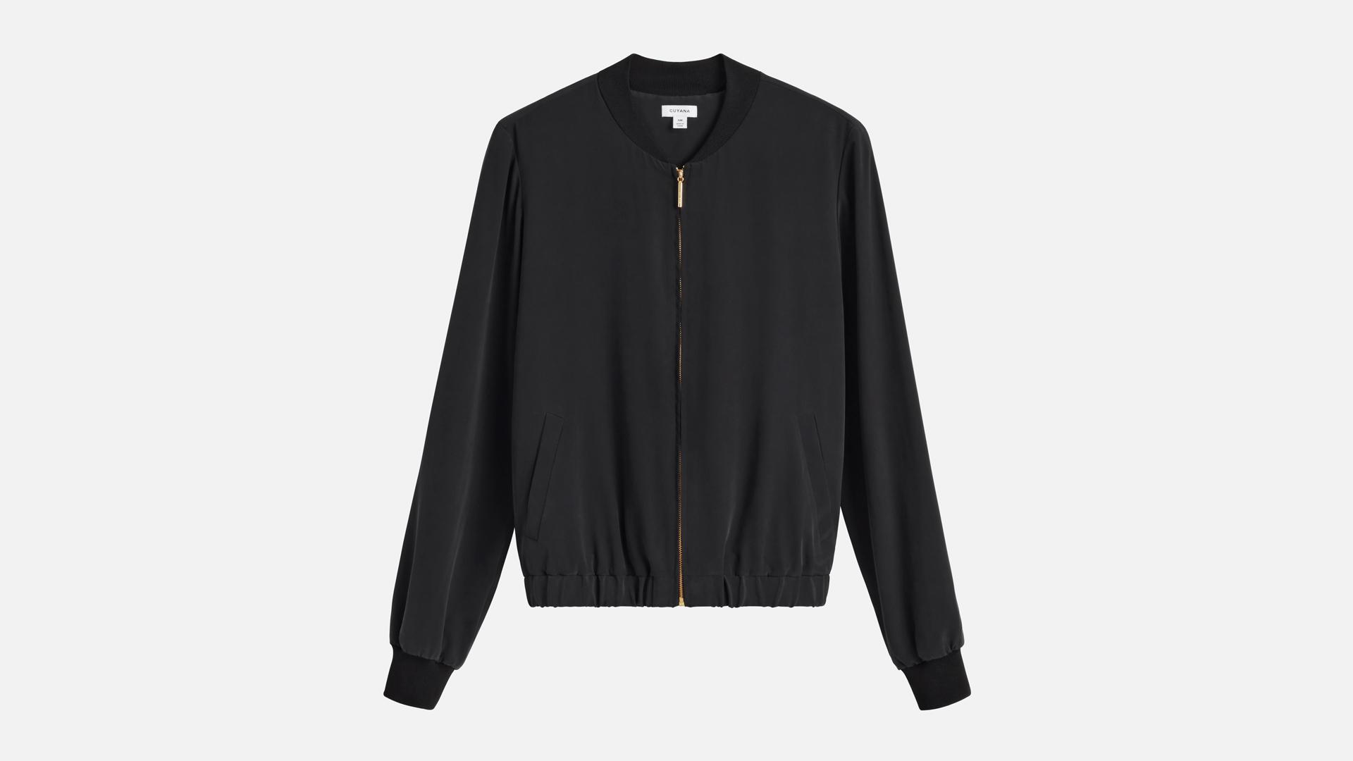Cuyana Silk Bomber Jacket