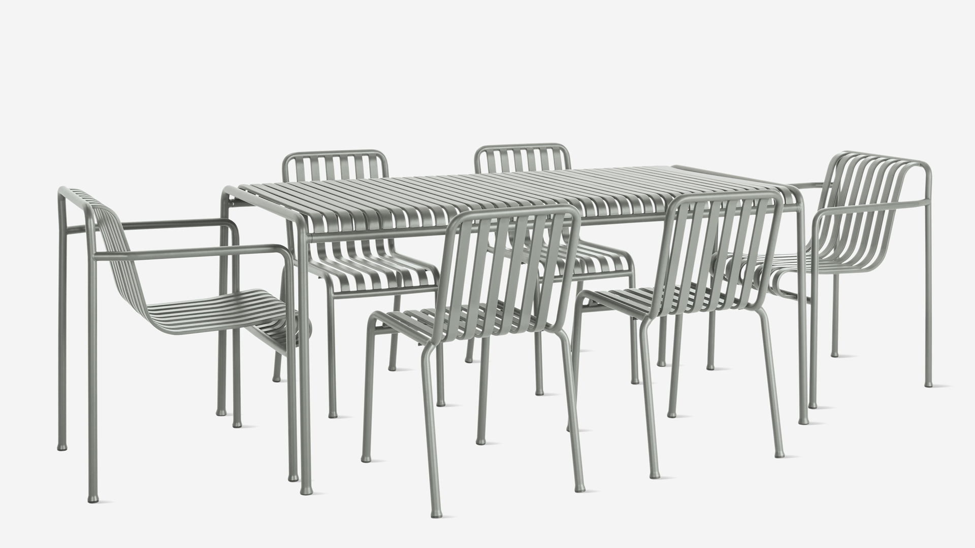 Hay Outdoor Dining Table and Chairs Set