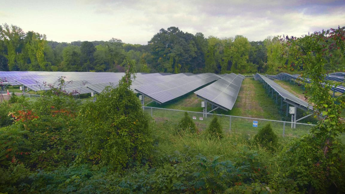 This old coal plant is now a solar farm, thanks to pressure from local activists