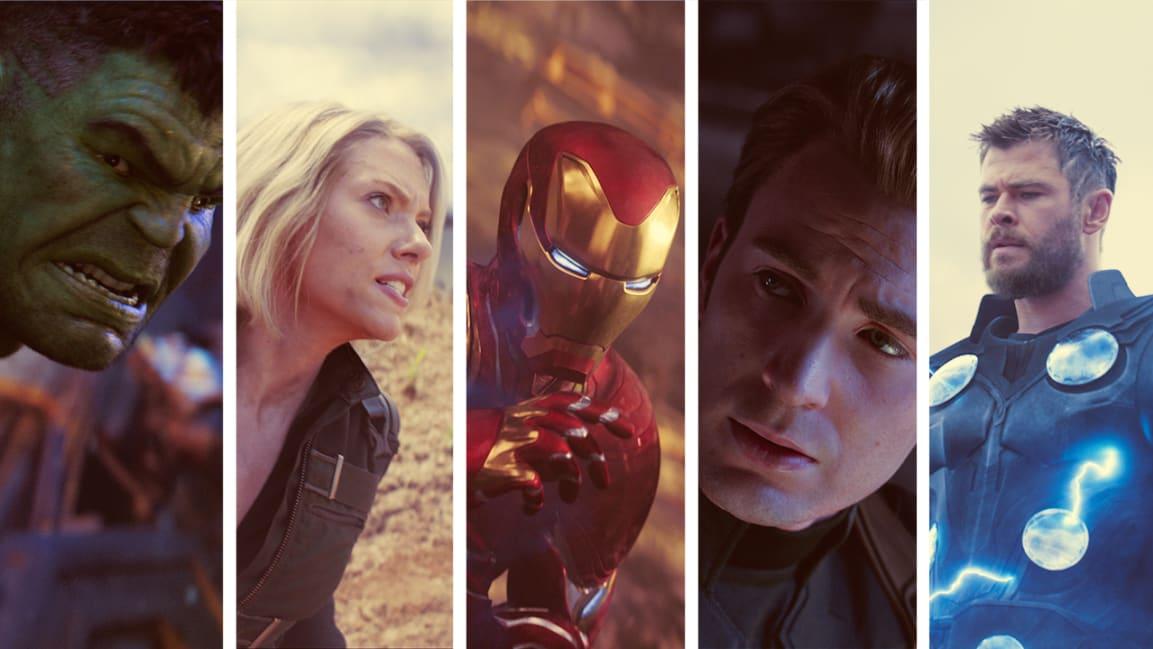 Left to right) Mark Ruffalo as The Hulk, Scarlett Johansson as Black Widow, Robert Downey Jr. as Iron Man, Chris Evans as Captain America, and Chris Hemsworth as Thor. [Photos: courtesy of Marvel Studios