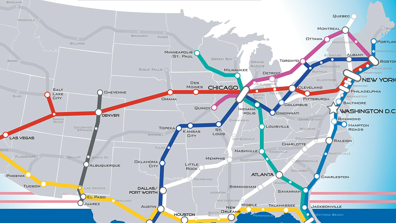A Beautiful Vision Of An American HighSpeed Rail Map