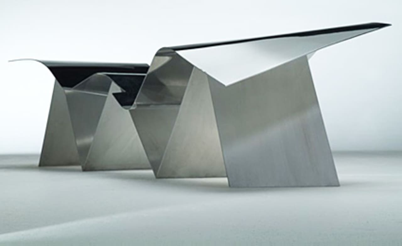Frank Gehry Chaise Carton a building? a plane? nope. it's frank gehry's newest chair
