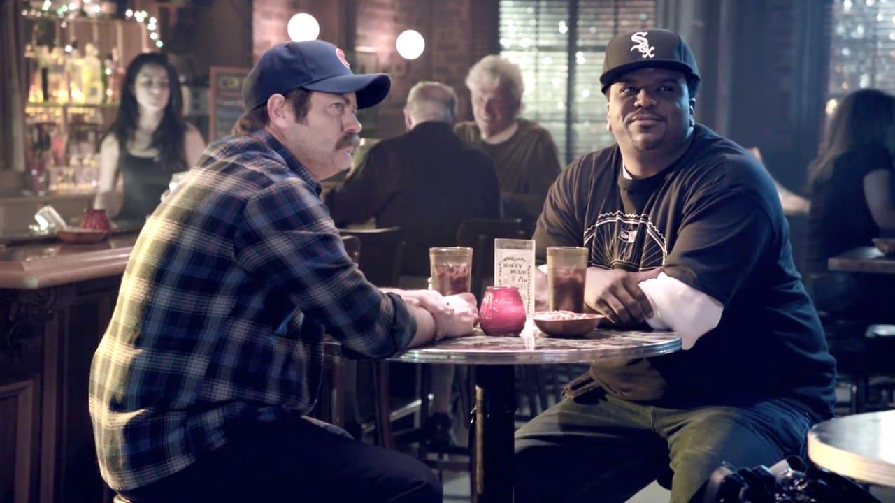Nick Offerman & Craig Robinson Continue Chi-Town Showdown In New Era Ad