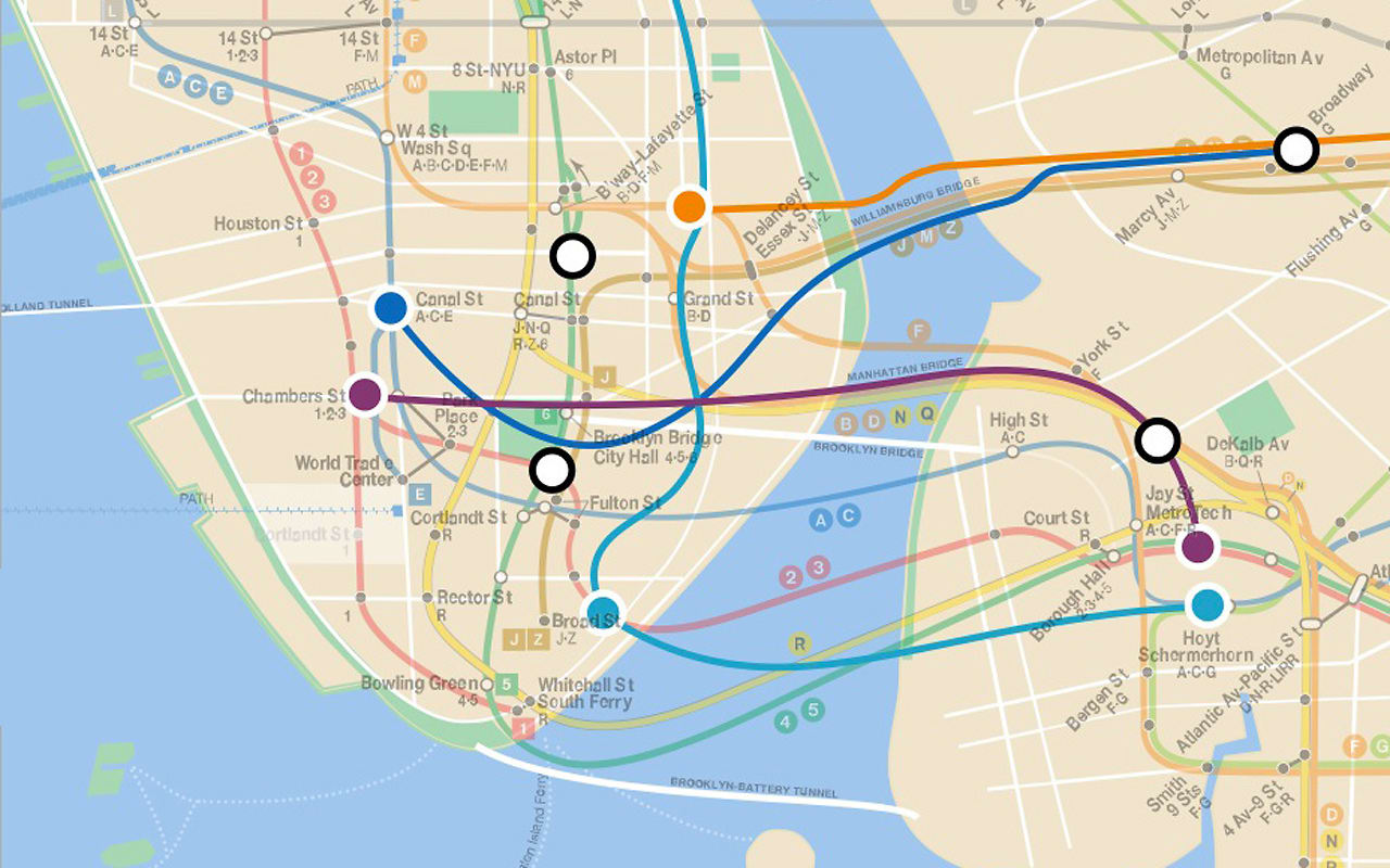 infographic of the day a map of nycs lost subway lines