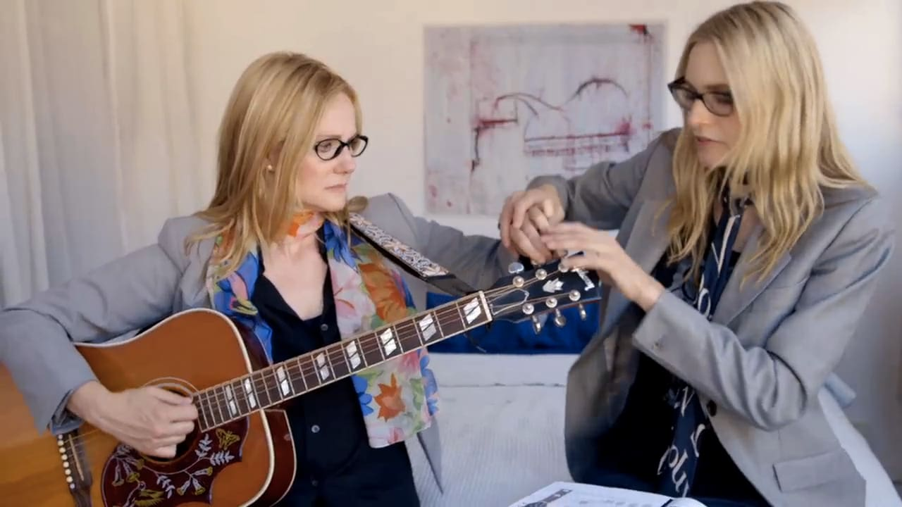 aimee mann replaced by laura linney shaped robot in video. Black Bedroom Furniture Sets. Home Design Ideas