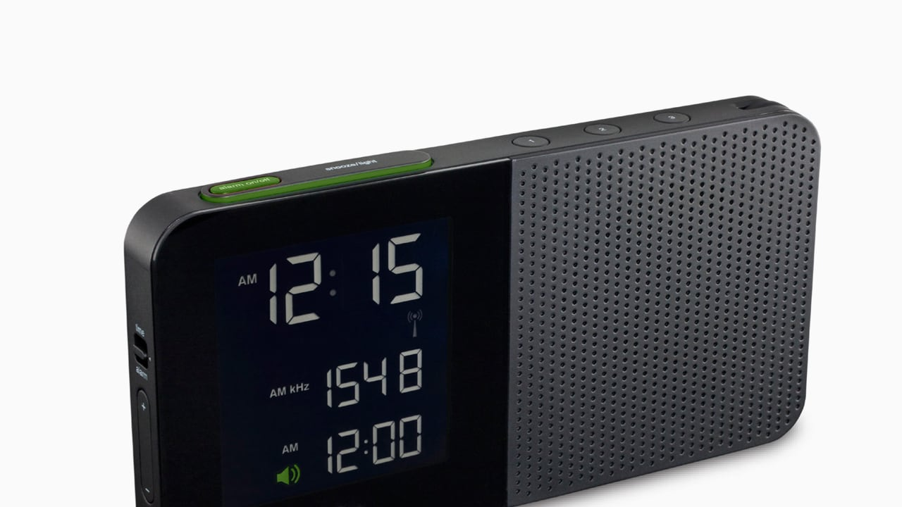 braun s new super simple super legible alarm clock. Black Bedroom Furniture Sets. Home Design Ideas