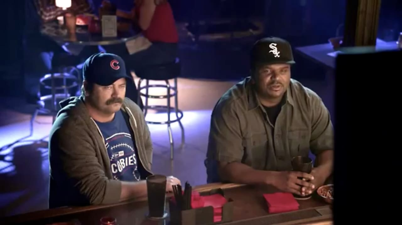 Nick Offerman And Craig Robinson Argue Sports In Funny Or Die's Stealth Ad For New Era