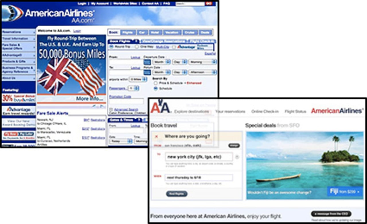 American Airlines Web Site The Product Of A Self