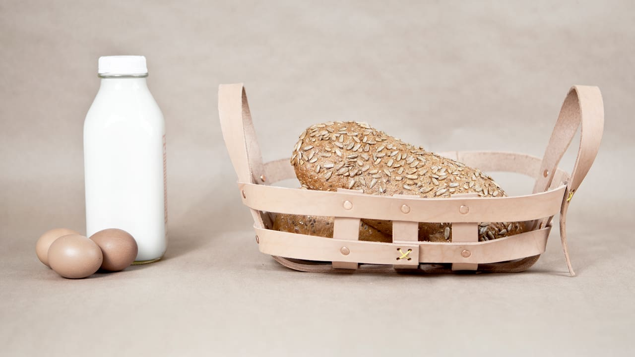 Chic Woven Leather Baskets, Inspired By Cowboys
