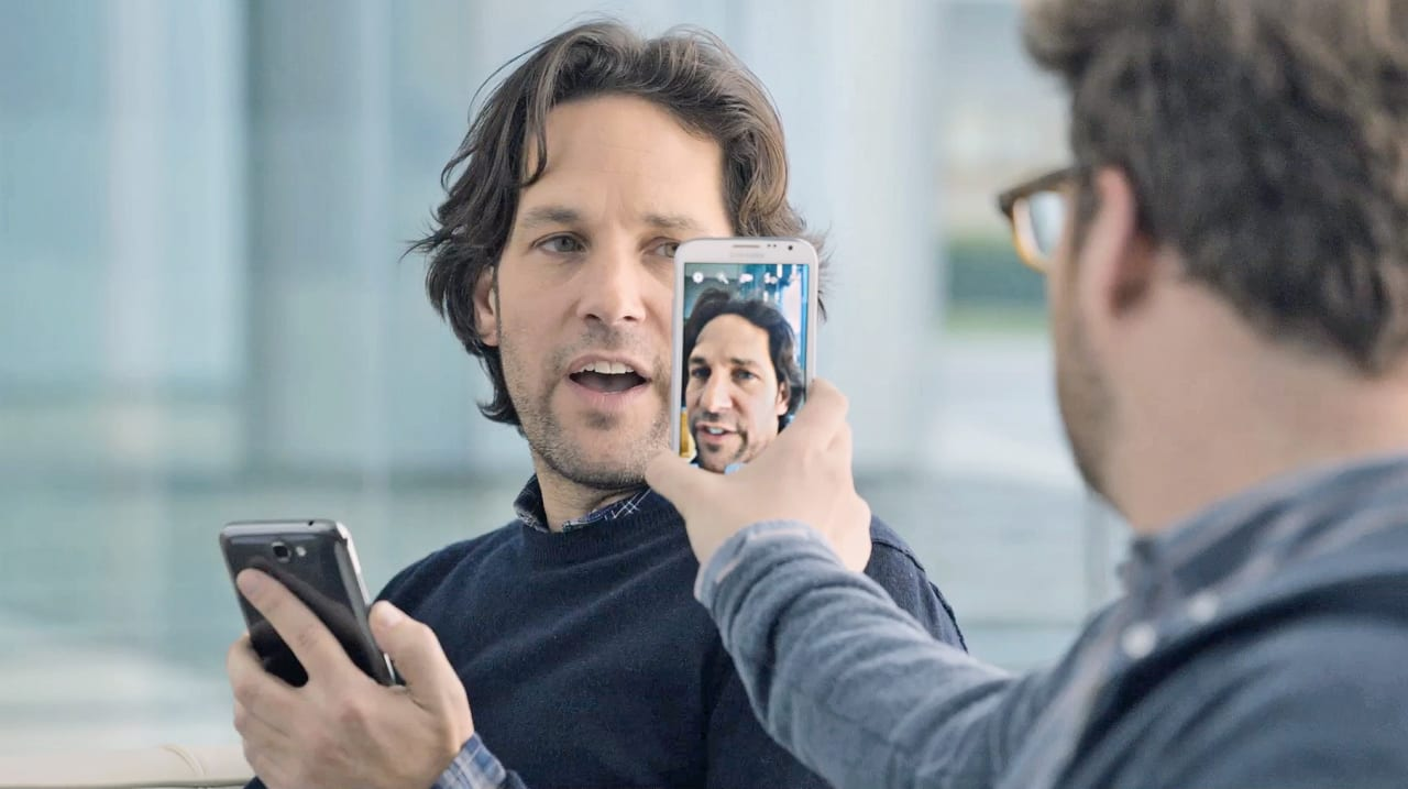 Paul Rudd and Seth Rogen Compete for Samsung's Super Bowl Ad (Within An Ad)