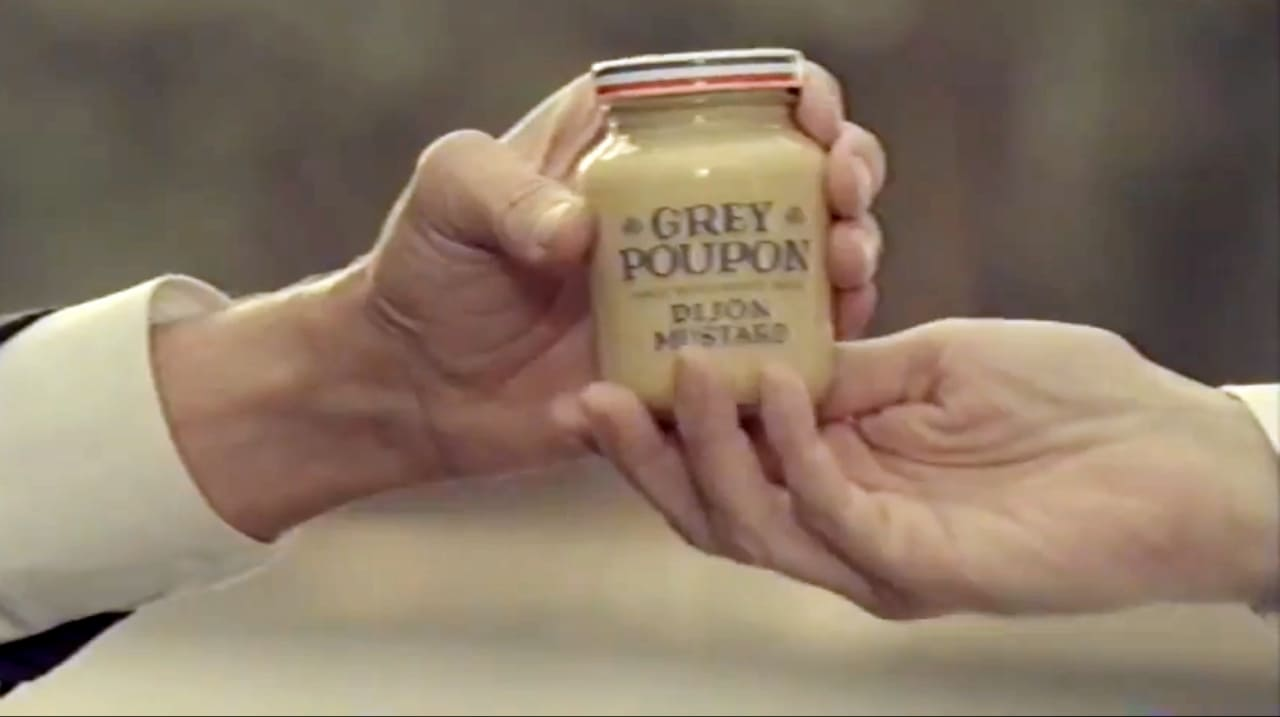 pardon me see the full story behind the grey poupon classic with los