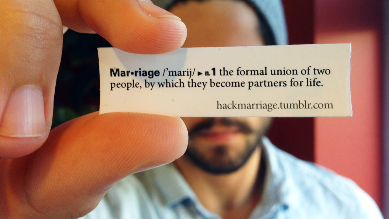 Hacking The World's Dictionaries To Change The Definition Of Marriage