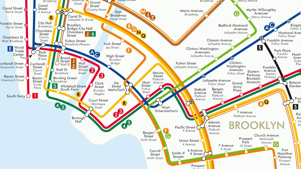 Request Nyc Subway Map.A Better New York Transit Map Through The Power Of Circles