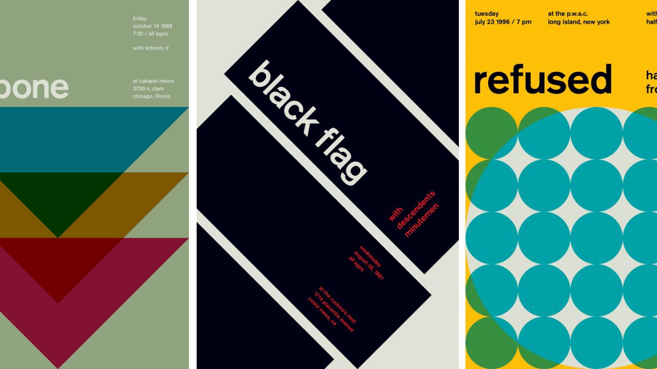 Zurich Calling: Your Favorite Punk Rock Gig Posters Meet Swiss Modernism
