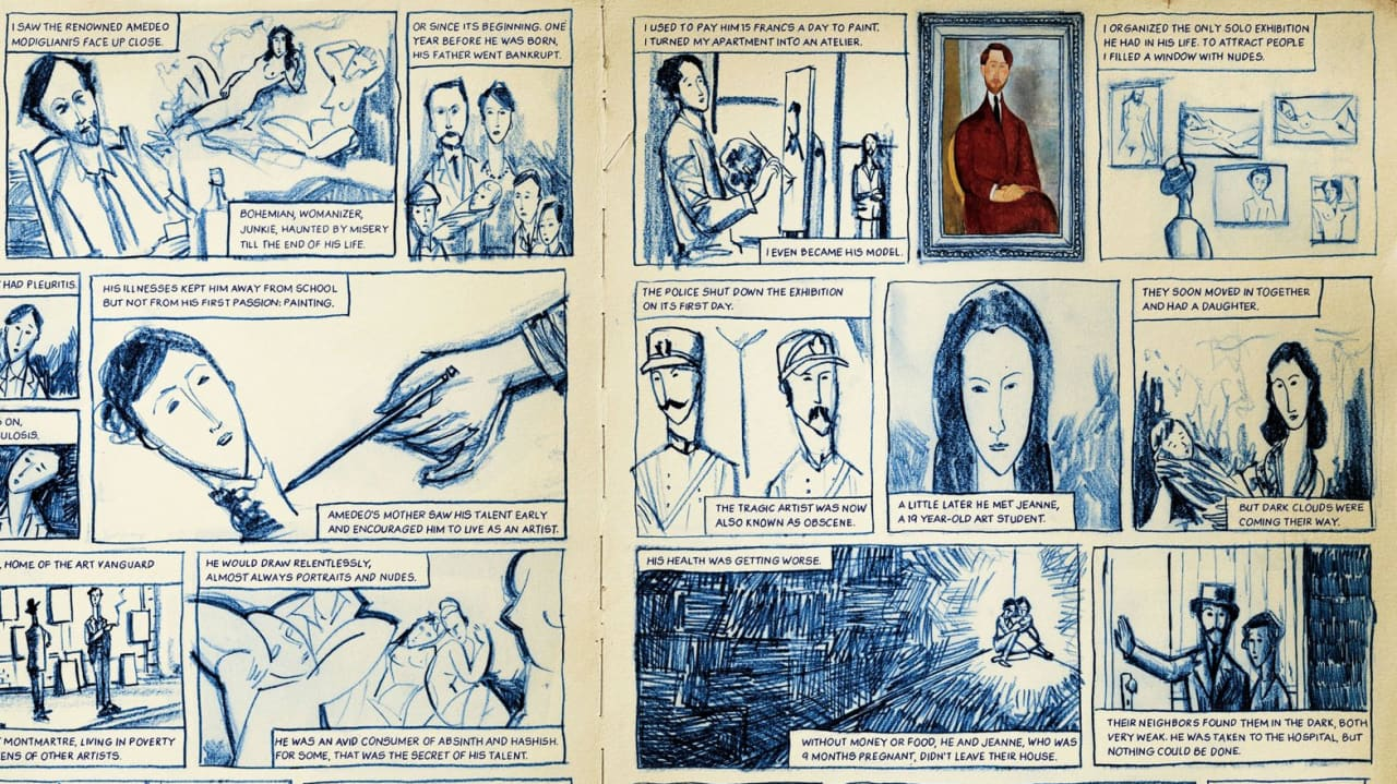 See The Works, And Stories, Of Renoir And Van Gogh As Comics