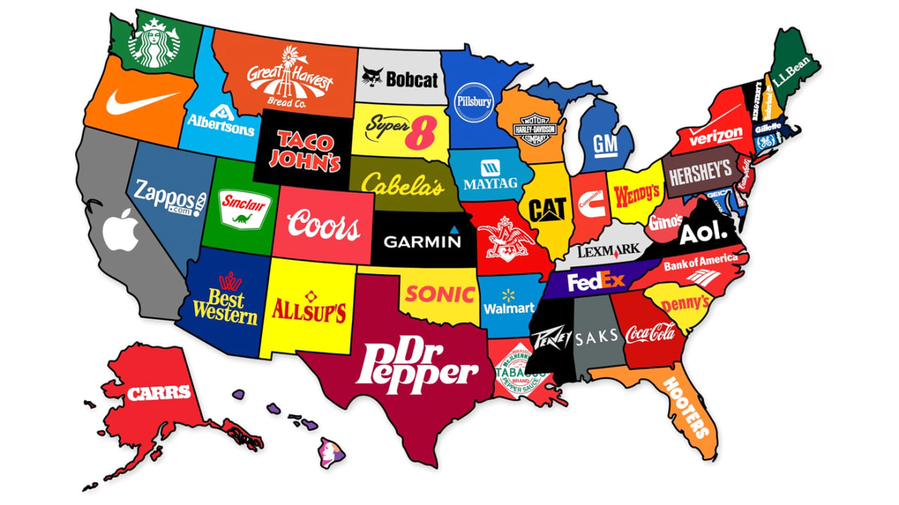Map States Of America.Now Entering North Verizon See A Map Of The Corporate States Of Ameri
