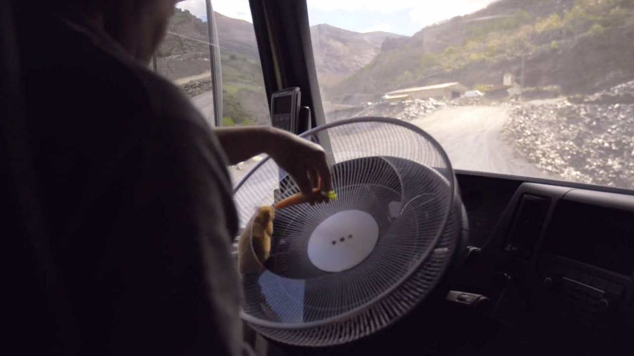Volvo Hires A Hamster to Drive a Very Large Truck Up a Very Dangerous Road