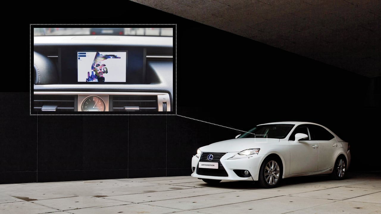 Lexus Uses Driving Data to Create Real-Time Portraits