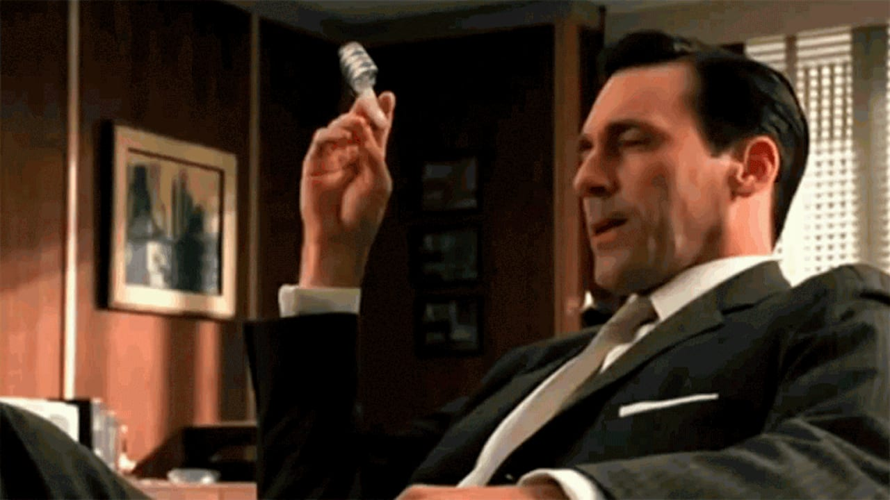 "How ""Mad Men"" Would Look With All The Cigarettes Replaced By … Something Else"