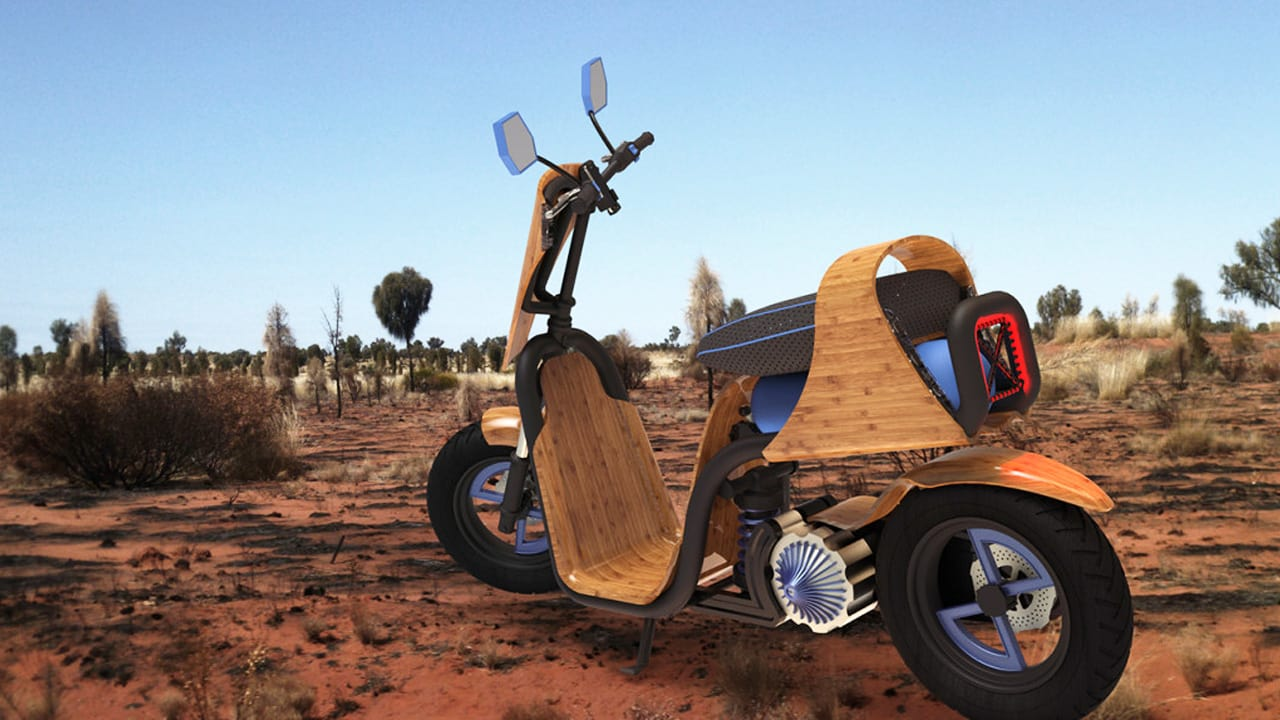 This Bamboo Scooter Runs On Nothing But Air