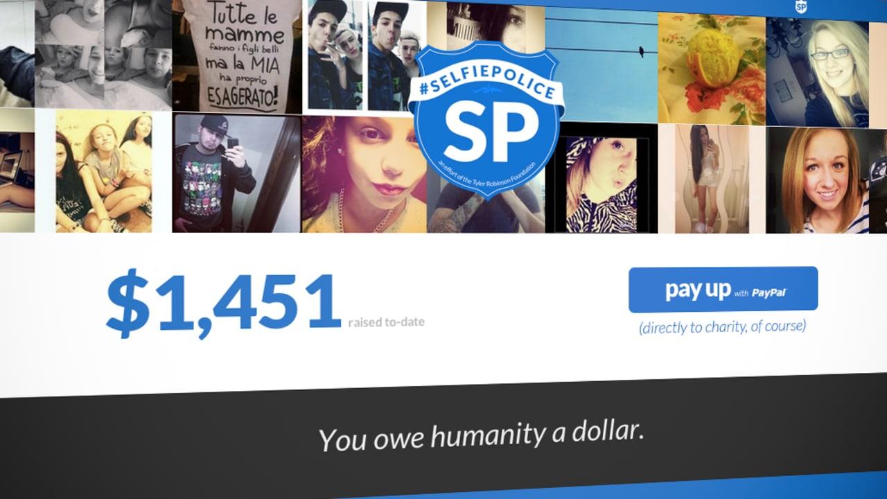 """Selfie Police"" Site Tells You To Pay $1 Per Selfie"