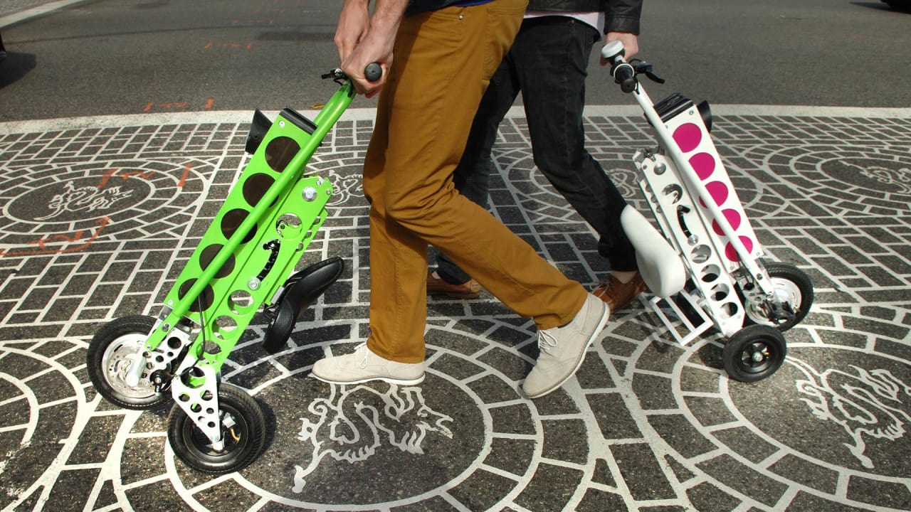 This Electric Scooter Folds Up So Tiny, You Can Take It Anywhere
