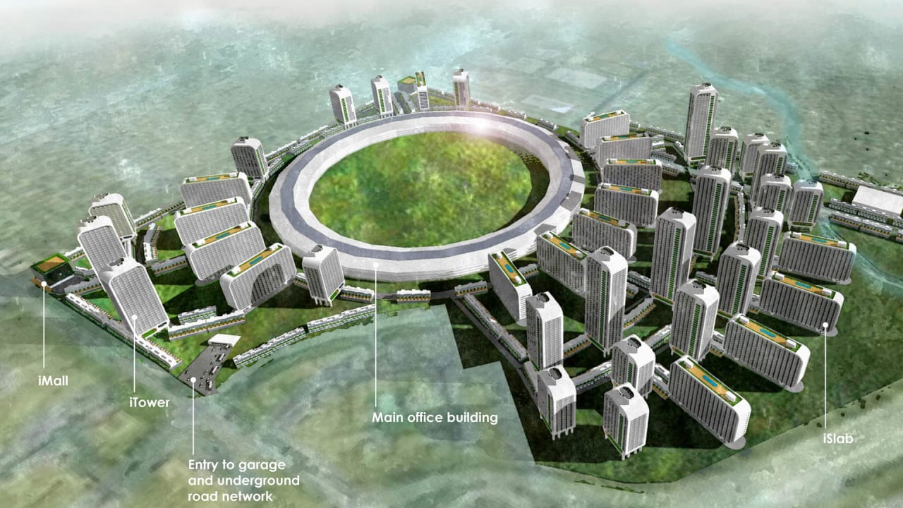 What Silicon Valley Would Look Like if Tech Companies Built Themselves Cities