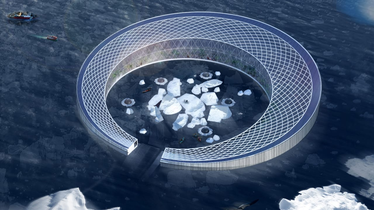 This Giant Floating Farm Uses Melting Icebergs To Bring Local Food To Greenland
