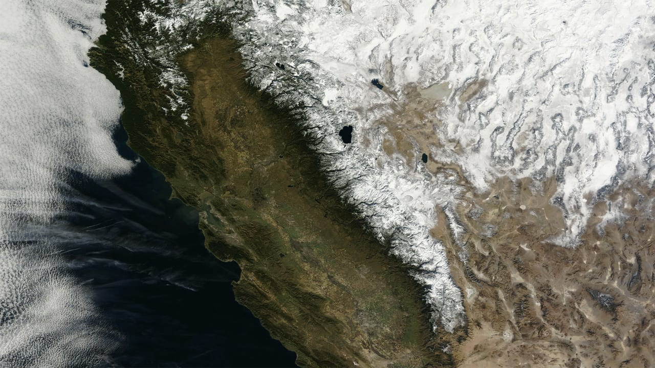 Watch California's Snowpack Disappear In These NASA Images