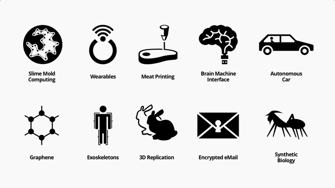Icons For The Near Future, From Printable Meat To Autonomous Car Warnings