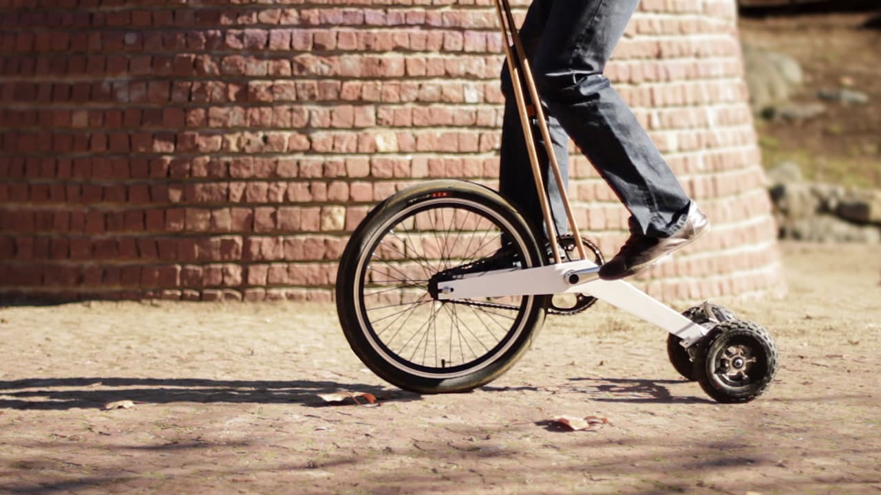 This New Vehicle Combines Biking, Running, And Skiing For A Truly Crazy Urban Commute