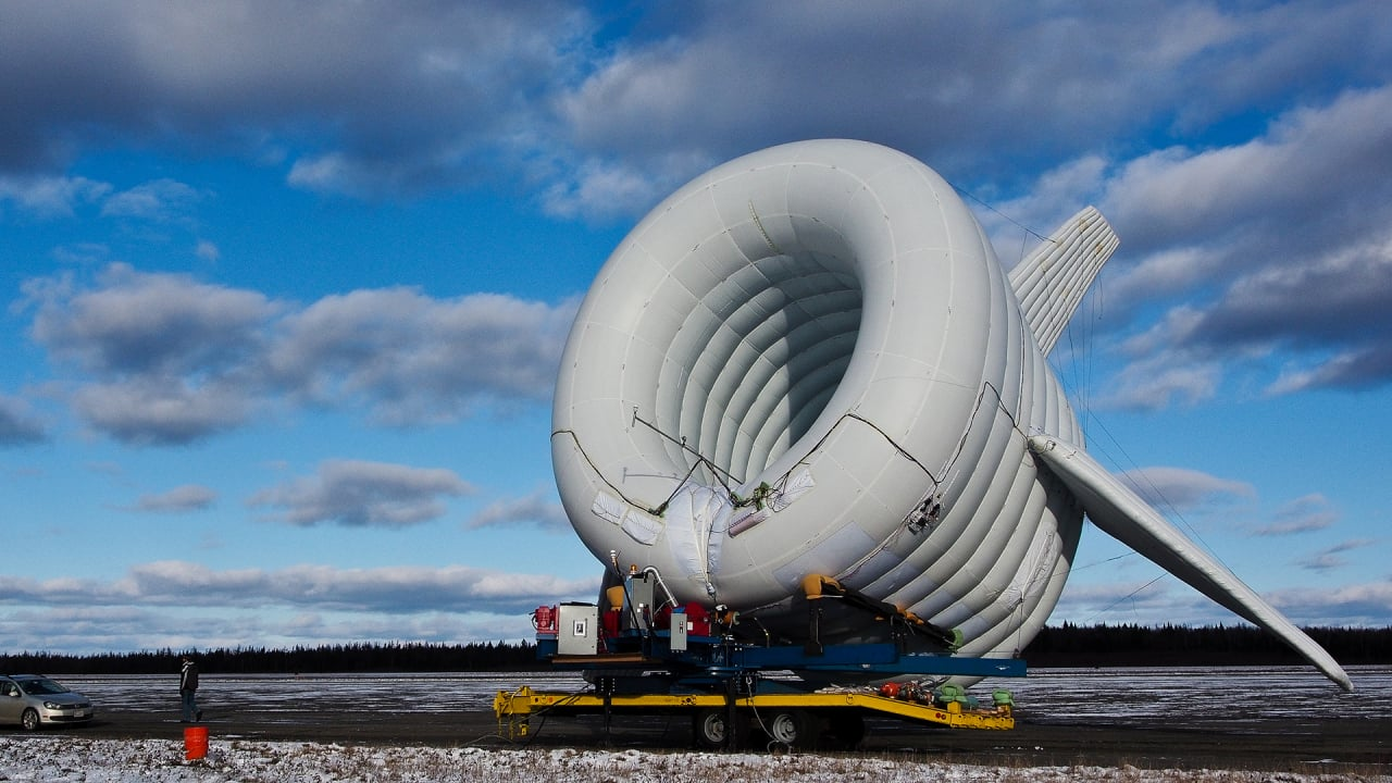 A Wind Turbine Inside A Floating Blimp Can Bring Power Anywhere