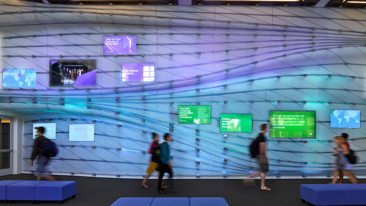 Digital Post It Wall Puts Student Thesis Projects On Display