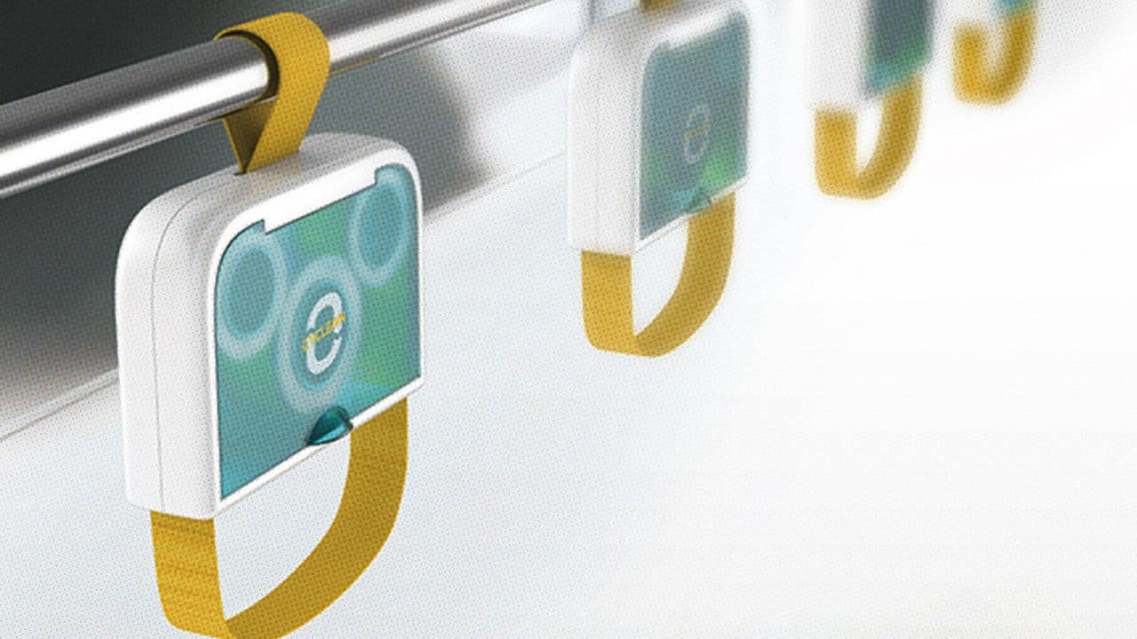 These Self-Cleaning Straps Make Public Transit A Little Less Germy