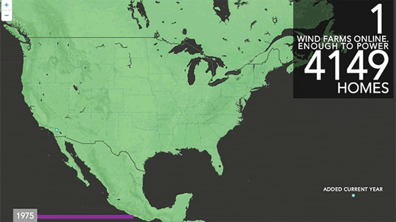 Watch 40 Years Of Wind Farms Spreading Across The Country