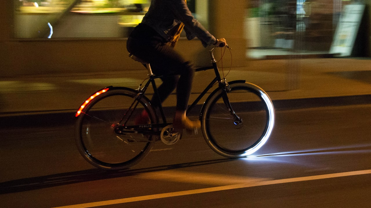 Never Bike In The Dark Again With These Fender-Mounted Lights