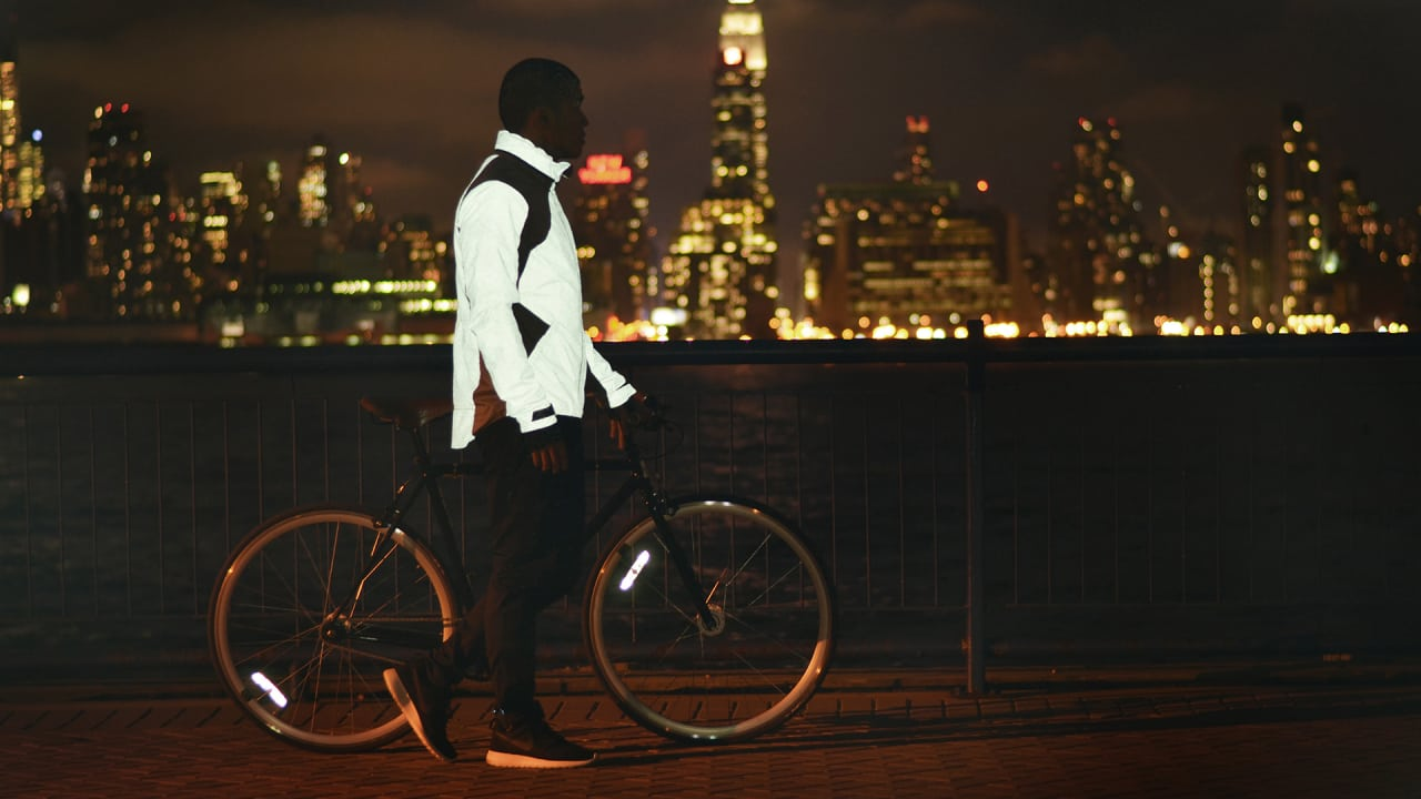A Glowing Cycling Jacket Inspired By Tron