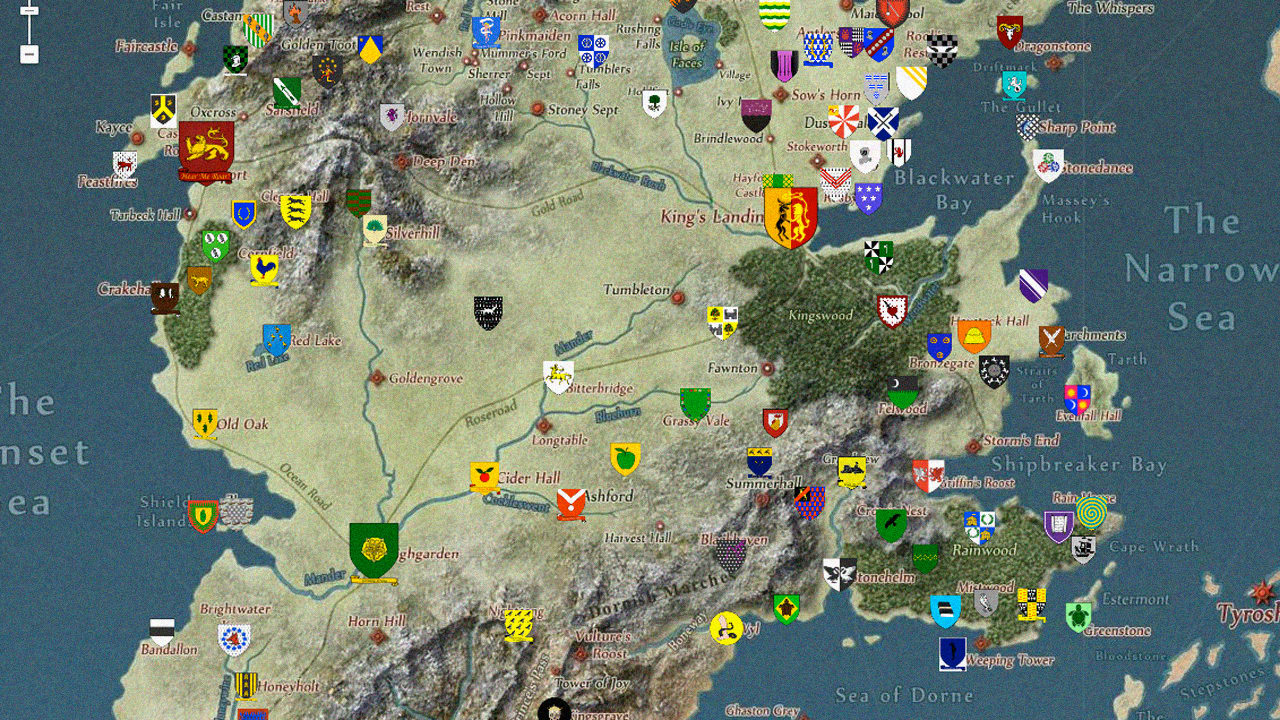 . google maps fans take on the insane geography of game of thrones