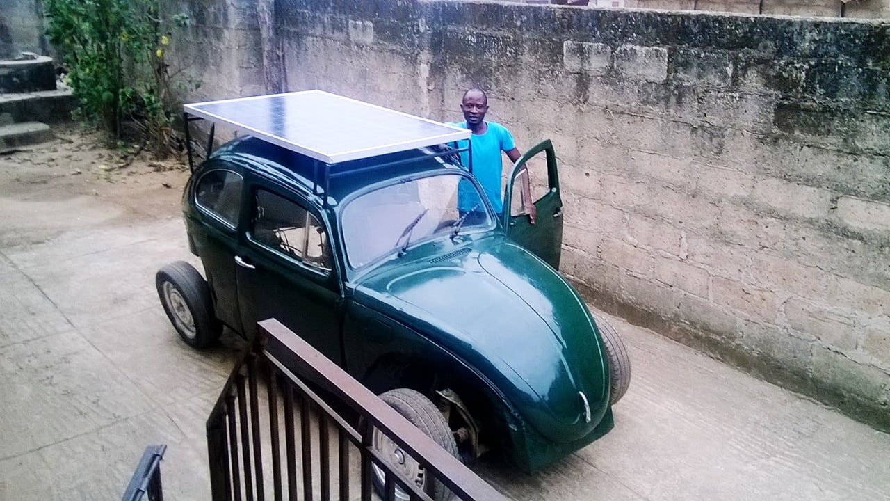 This Nigerian College Student Built A Wind And Solar Powered Car From