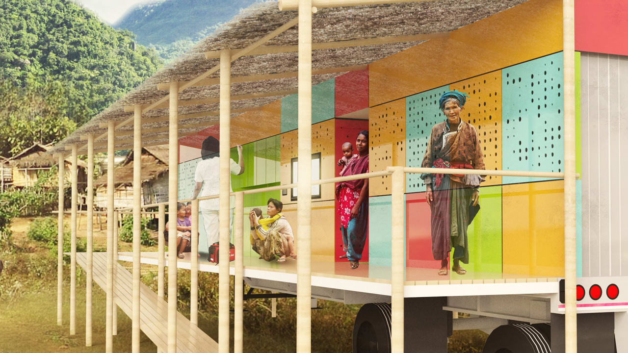 A Health Clinic Inside A Shipping Container, So Doctors Can Move To Where People Are Sick